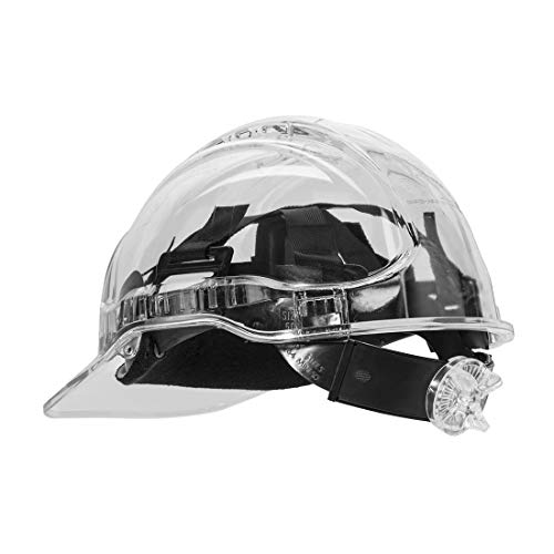 Portwest PV64CLR Series PV64 Schutzhelm mit Ratsche, transparent, regulär, transparent
