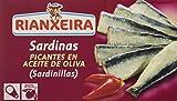Rianxeira, Conserva de sardina picante en aceite de oliva - 12 latas de 81 gr. (Total: 972 gr.)