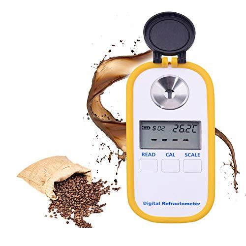 Huanyu Kaffee-Refraktometer-Konzentrations-Densitometer 4 in 1 ATC Digital Brix & TDS & Brechungsindex & Temperatur-Tester