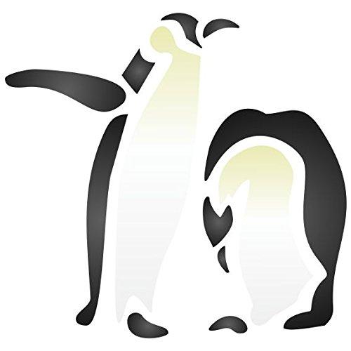 Pinguin-Schablone – wiederverwendbar arktisches Tier Vogel Antarktis Wand Schablone Vorlage M