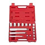 Juego de destornilladores 17pcs apoyo de la pista principal conductor del sello Juego de herramientas de aluminio de la rueda Eje Conjunto