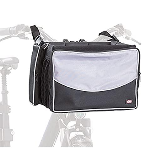 TRIXIE Caja Frontal para Bicicletas, 41 x 26 x 26 cm, Negro/Gris, 2,82 kg