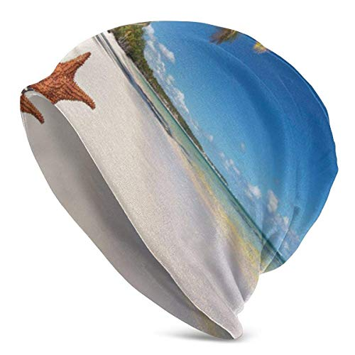 Peeeenny Beeen Cappello a Cuffia Tropicale con Stelle Marine da Spiaggia Turbante Elastico Leggero e voluminoso per Uomo e Donna, Berretto con Bordi confinati