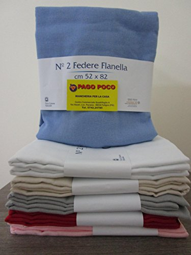 Pago Poco Kissenbezüge Flanell 52x 82cm. 2Kissenbezüge aus weichem Flanell-Puro Baumwolle 100%