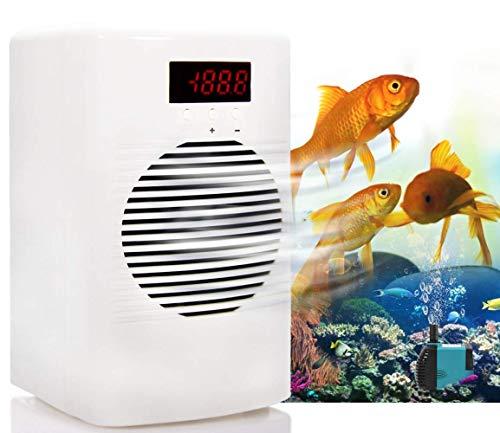 YJINGRUI 30L Enfriador de Acuario Enfriador de Pecera Temperatura de 20℃ a 30℃ con Bomba de Agua para Pez/Camarón/Medusa/Coral Bajo consumo 220V (30L / 8 Gal-enfriamiento)
