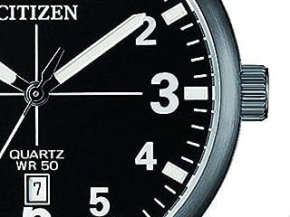 Citizen BI1055-52E Quartz Mens Watch Black Stainless Steel Black Dial