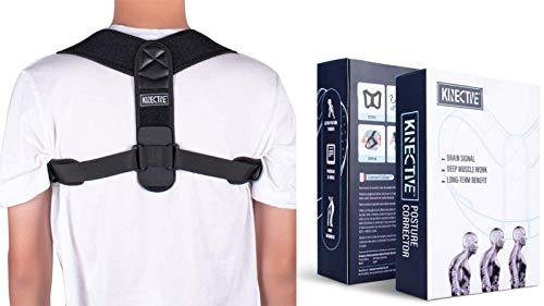 Kinective Haltungskorrektur, für Damen und Herren, Universal-Rückenstütze, verstellbar, unsichtbar, Rückenhaltung Rückenschmerzen, Brustschmerzen, Nacken und Schultern Tracking- und Übungsprogramm