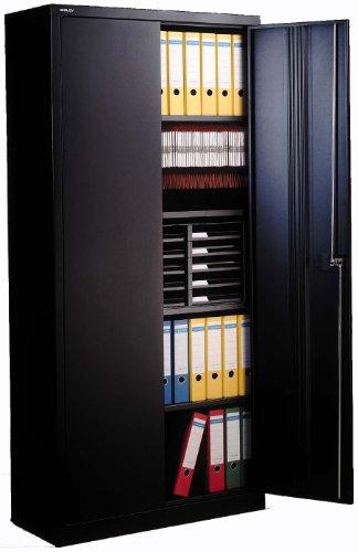 Bisley E782A04 - Büroschrank - 4 Borde - 2 Türen - Schwarz