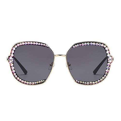 Gafas de Sol con Diamantes de imitación de Diamantes, Gafas de Sol de Cristal de Lujo para Hombres y Mujeres, Montura de Lentes Transparentes, Gafas de Sol cuadradas, Tonos Vintage 1