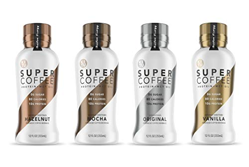 Kitu Super Coffee, Iced Keto Coffee (0g Added Sugar, 10g Protein, 70 Calories) [Variety Pack] 12 Fl Oz, 4 Pack | Iced Coffee, Protein Coffee, Coffee Drinks - LactoseFree, SoyFree, GlutenFree