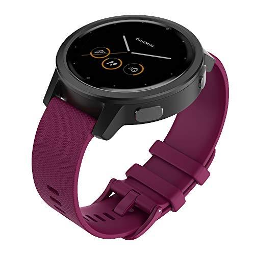 Isabake Cinturino per Garmin Vivomove 3s / Garmin Move 3S / Vivoactive 4s / Garmin Active S -18mm Cinturino in Silicone con Sgancio Rapido per Smartwatch