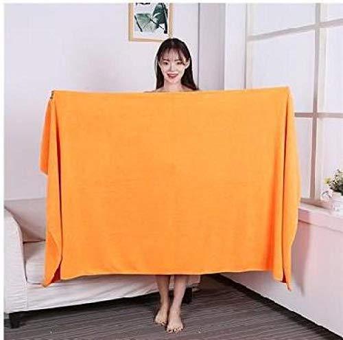 Lyolk Toalla cómoda para Cama, Toalla de baño Grande, Toalla Grande para Adultos, Extra Gruesa, Naranja