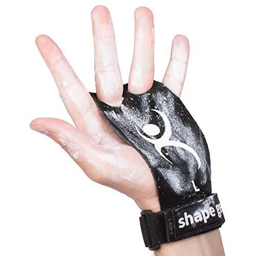 shape gear Premium Hand Grips - Pull up Grips für Crossfit, Turnen, Wodies Calisthenics, Freeletics, Gewichtheben und Gymnastik (Schwarz, M)