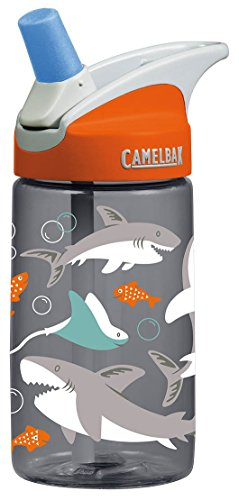 CamelBak 53860 Kids Eddy Water Bottle, 0.4 L, Sharks