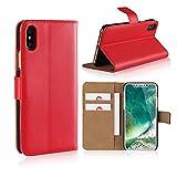 Smart Fit Sport Coque iPhone - en Cuir Flip Case pour iPhone X/XS 4/4S 5/5S 5C 6/6s 6 Plus 7/8 7 Plus/8 Plus