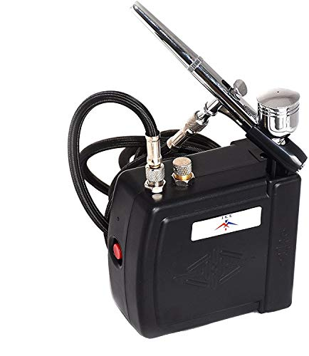 NEW Airbrush Kit Compressor Nail Art Tattoo Dual Action Spray Air Brush Gun Set ETL Certified