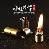 The World's Smallest Kerosene Lighter! Height 2.5cm/φ 1.3cm Capsule Lighter Portable Metal Miniature EDC Gear Waterproof Tiny Peanut Lighter (Fuel not included) (Mini 3 Pack)