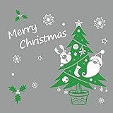 Winhappyhome Pared del árbol de navidad del copo de nieve pegatinas Inicio Tienda cristal de...