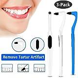 MayBeau 3 Pack Zahnsteinentferner Zahnsteinentfernung Zahnreinigung Interdentalbürste für Weisse Zähne Zahnaufhellung Teeth Whitening Zahnreinigung Zahnarztbesteck Entfernt Stain Remover