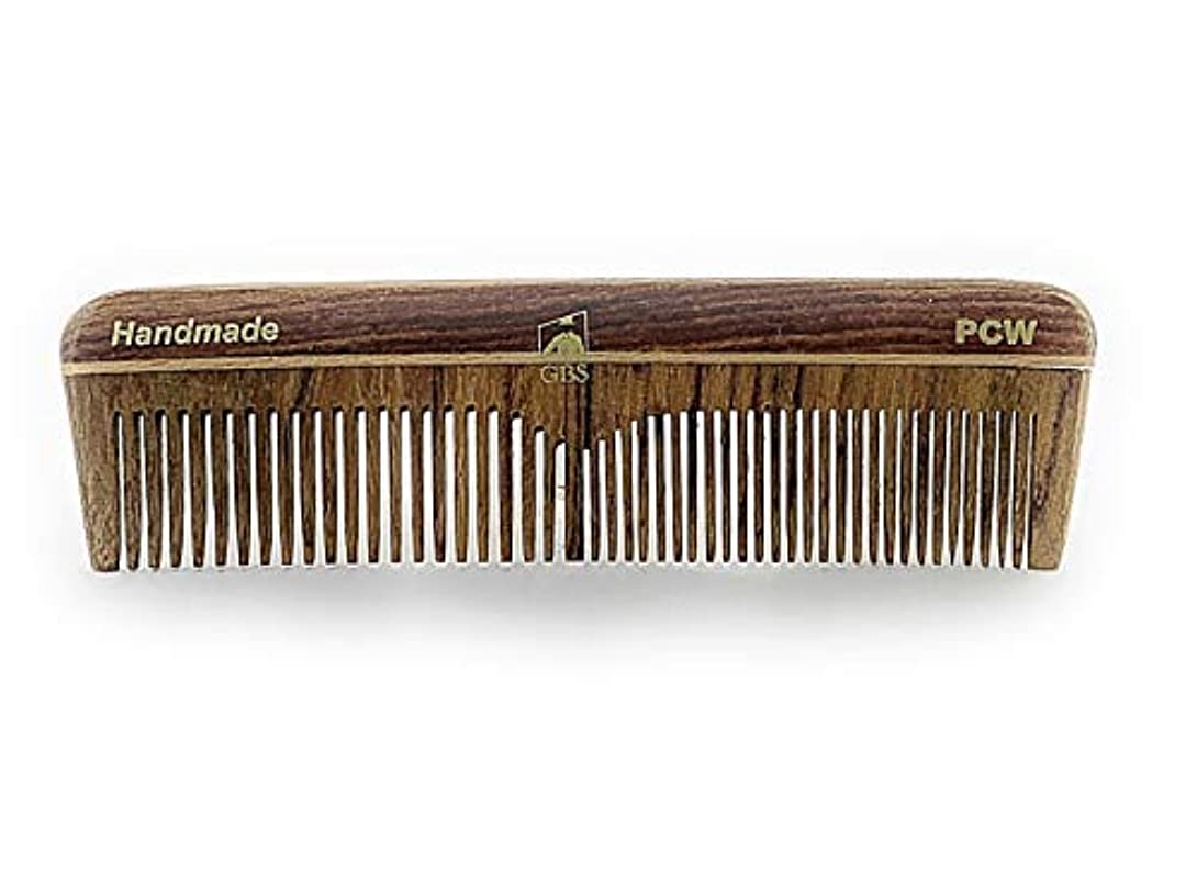 一部薄暗い操作可能GBS Natural Wood Handmade Pocket Beard and Hair Comb - Comb 5