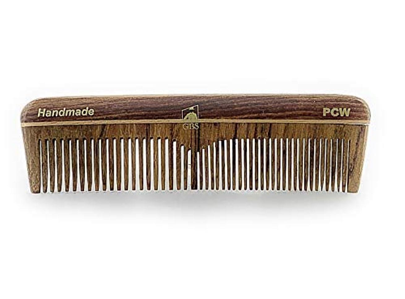 優しさウェイトレス腹GBS Natural Wood Handmade Pocket Beard and Hair Comb - Comb 5