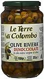 Le Terre di Colombo – Olives Riviera dénoyautées conservées dans de l'huile d'olive extra-vierge (36%), 500g