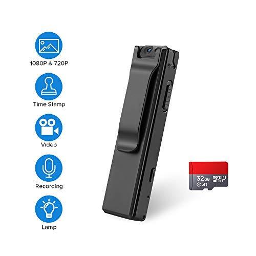 BOBLOV 1080P Mini Body Camera with Audio Wearable