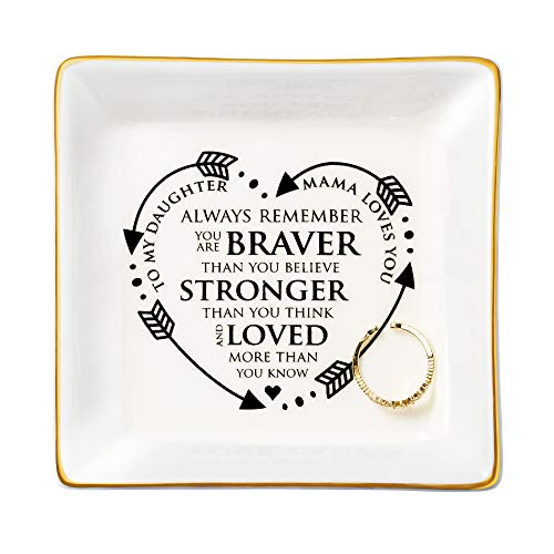Joycuff Inspirational Gifts for Women Unique Trinket Tray Jewelry Mantra Ring Dish Holder Encouragement Motivational Presents for Daughter Friends Sister Mother Aunt in Frustration