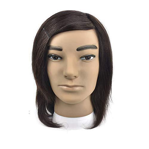 Mr.LQ Cabeza De Maniquí Masculino para Hombre, peluquería, maniquí de Cabello Humano, Cabeza de muñecas para peluquería/técnicas de peluquería