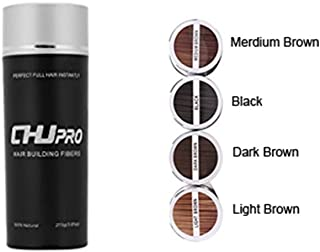 CHJPRO Hair Building Fibers-Color Powder Conceal Landscaping Hairline Expert Women&Men's Hair Thinning/Partial Hair Loss (Dark Brown)