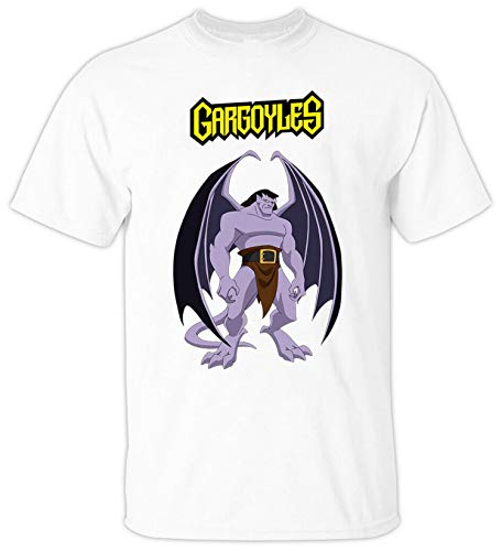 JONES DIY Cartoon, Gargoyles V1 Goliath Demona Film TV Series 1994 T Shirt,White,5XL