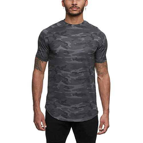 WAQD Men's Short Sleeve T-Shirt Summer Solid Color Round Neck T-Shirt Simple Sports Bottoming Shirt Crew Neck Tees Simple Comfortable Breathable Sports Running Short-Sleeved Top Workout Clothes