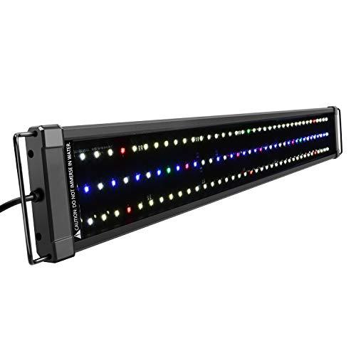 NICREW ClassicLED Plus HO Aquarium LED Beleuchtung, Aquarium LED Lampe mit Mondlicht, voll Spectrum LED Licht für Wasserpflanzen, 75-100cm, 34W
