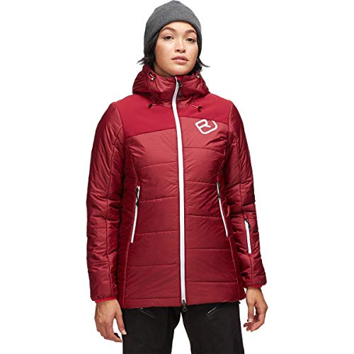 ORTOVOX Damen Swisswool Verbier Parka, Dark Blood Blend, L