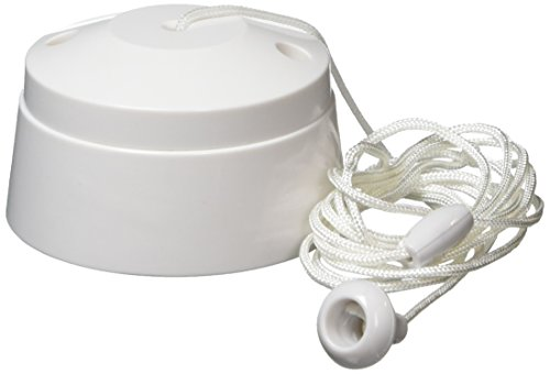MK K3191RPWHI 6A 1 Way SP Ceiling Switch Acorn 1.5M, White