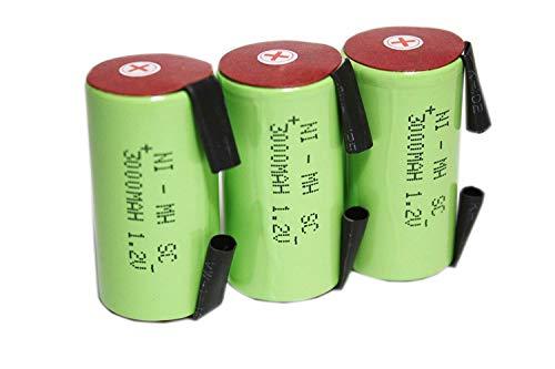 正規容量 国内から発送 22.5x43mm NI-MH Sub-C SC ニッケル水素 ミニ単2 サブC セル エアガン 電動ガン ドライバー ドリル 工具 掃除機 充電池 バッテリー (3)