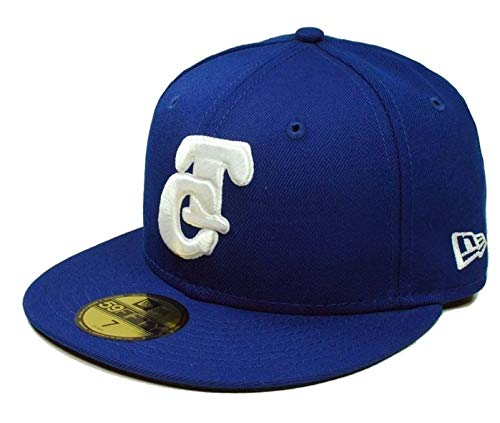 New Era Authentic Mexican League TOMATEROS DE Culiacan Sinaloa Royal Blue White Baseball Cap Fitted 59Fifty 5950 (7, Fitted Royal Blue) - 7