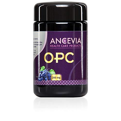 ANCEVIA OPC Traubenkernextrakt - 60 Kapseln OPC im Glas - Laborgeprüftes OPC aus französischen Trauben - 200 mg reines OPC je Kapsel (HPLC)