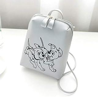 ZKS-SS السيدات الابتدائية المطبوعة نمط الكلب الثمينة حقيبة الكتف حقيبة الظهر أزياء حقيبة يد