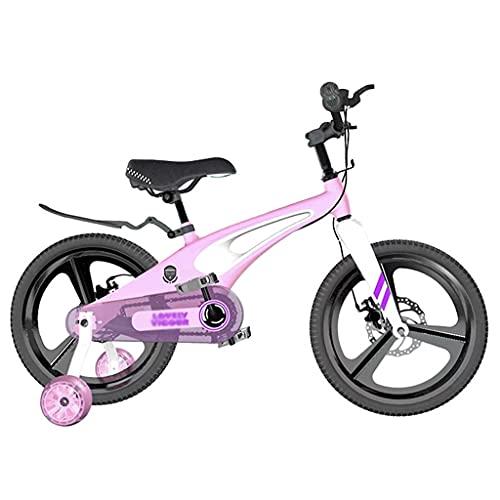 Bicicleta para niños Bicicleta para Niños con Ruedas de Entrenamiento para Edades de 2 A 9 Años Niños y Niñas 12 14 16 18 Bicicleta para Niños Pequeños con Asiento y Asa Regulables en Altura para Niño