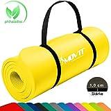 [page_title]-Movit Pilates Gymnastikmatte, Yogamatte, phthalatfrei, SGS geprüft, 183 x 60 x 1,0cm, Yoga Matte in Gelb