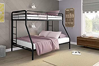 DHP Black Twin-Over-Full Bunk Bed- Best Bunk Beds