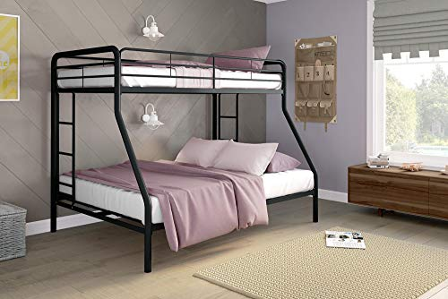 DHP Twin-Over-Full Bunk Bed with Metal Frame and Ladder,...