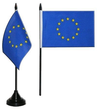 Flaggenfritze Tischflagge/Tischfahne Europäische Union EU + gratis Aufkleber