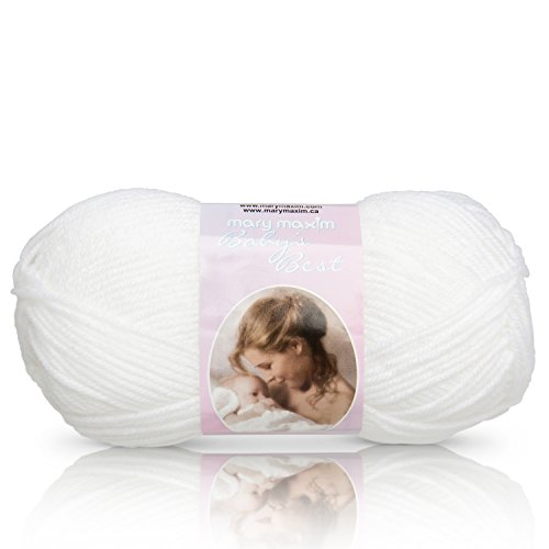 Mary Maxim Baby's Best Yarn, White
