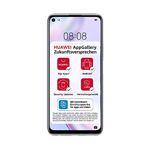 HUAWEI P40 lite 5G Dual-SIM Smartphone BUNDLE (16,51cm(6,5 Zoll), 128 GB ROM, 6 GB RAM, Android 10.0 AOSP ohne Google Play Store, EMUI 10.1.1) Space Silver [Exklusiv +5 EUR Amazon Gutschein]