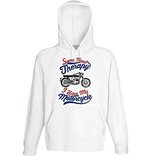 Teesandengines Bultaco Mercurio 155 Motorcycle Therapy Sudadera con Capucha