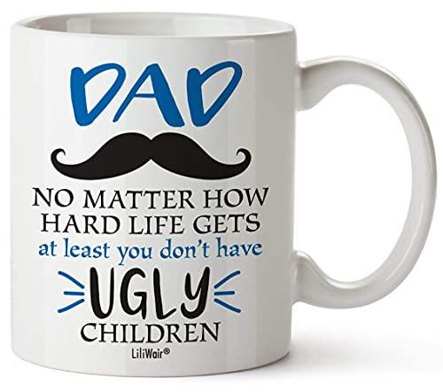 N\A papá de Hija Hijo, Taza de café del día del Padre, Las Mejores Tazas de Primer cumpleaños Divertidas y Divertidas para papá, papá padrastro padrastro padrastro Presenta Taza de