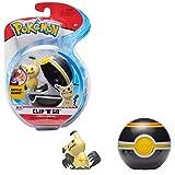 PoKéMoN Clip 'N' Go Mimikyu y Poké Ball, Contiene 1 Figura de 5 cm y 1 Poké Ball, New Wave 2021, con Licencia Oficial