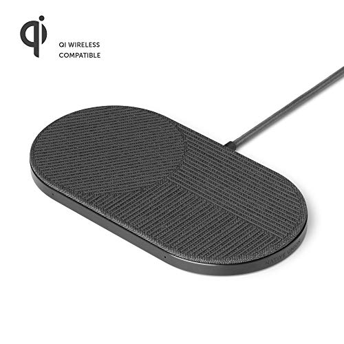 Native Union Drop XL Kabelloses Ladegerät – Multigeräte-Ladepad für iPhone und Qi-fähige Geräte (Kompatibel - US,EU,UK)